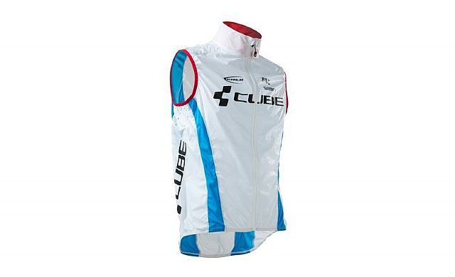 Cube Teamline Windvest Pure Wit/Blauw/Rood Heren